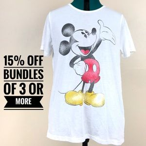 NWT Disney Mickey Mouse short sleeve white T-shirt
